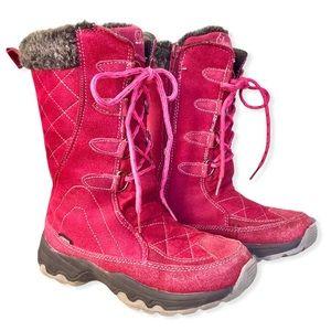 DUTY 9   Little Girl's Suede Winter Boots Zipper